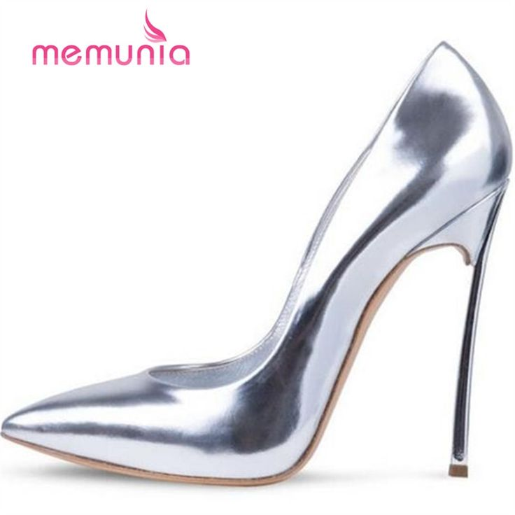 46.80$  Watch here - http://alija6.shopchina.info/1/go.php?t=32801193190 - MEMUNIA classic office shoes women pumps elegant spring autumn high heels single shoes pu leather thin heels pointed toe  46.80$ #shopstyle