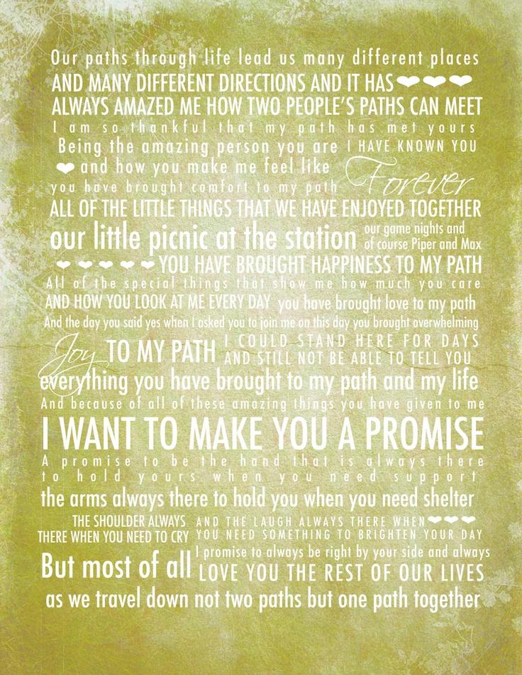Cheapest custom written wedding vows