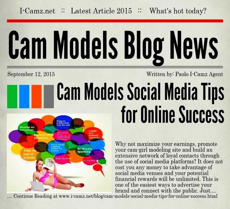 Latest article from www.i-camz.net Cam Models Blog - Check #CamModelsSocialMediaTips to Promote Services & Shows: http://www.i-camz.net/blog/cam-models-social-media-tips-for-online-success.html