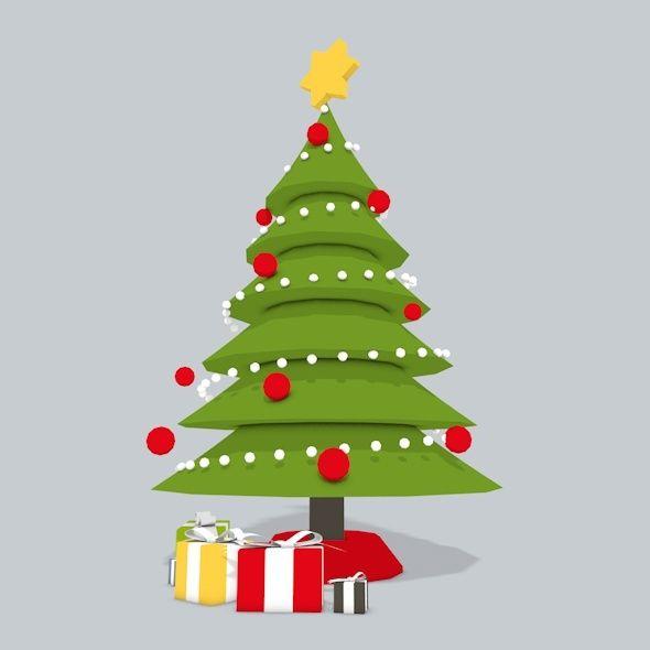 3d Christmas Tree Low Poly 3d Christmas Tree Christmas Tree Christmas