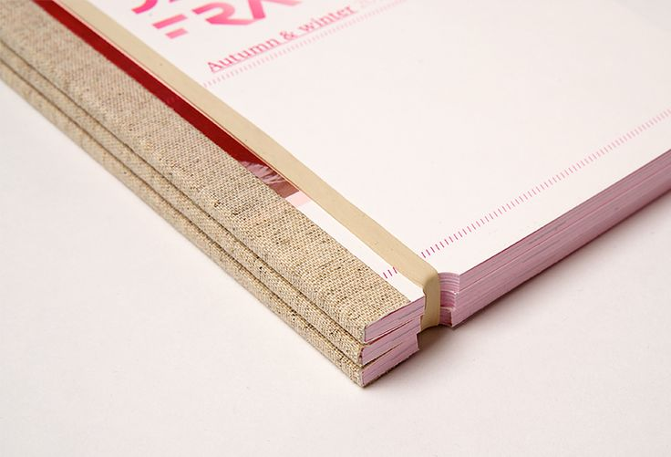 Clever mix of perfect binding and the good old-fashioned rubber band!