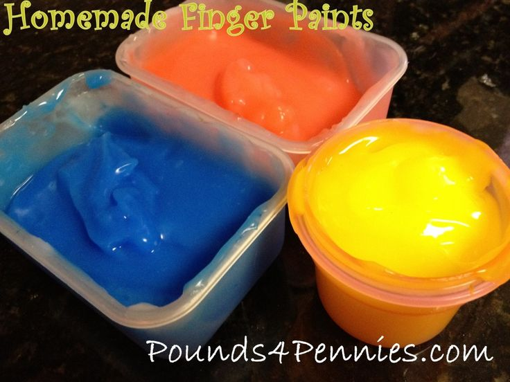 Easy Homemade Finger Paint For Kids Edible Non Toxic Paints Super Craft Boys Great Way To Explore Color And Art Idea
