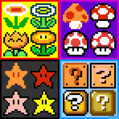 super-mario-power-ups.gif (500×500)