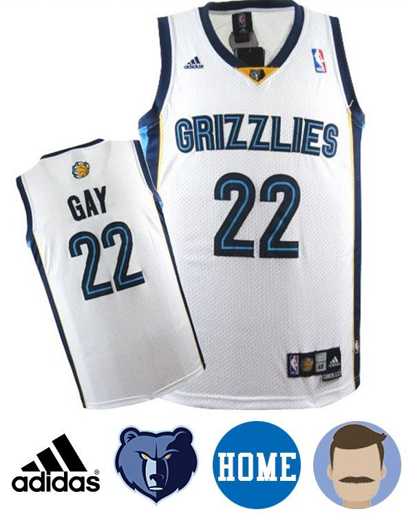 To be the NO.1 fan of your favorite team with this Men's Adidas Memphis Grizzlies #22 Rudy Gay White Revolution 30 Swingman Home Jersey, you can wear fantastic NBA jersey to boast your team anywhere with pride, then you would feel like you're on the sidelines on game day! Rudy Gay your love is print