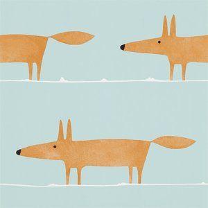 Scion Mr Fox Behang Het Scion Mr Fox behang heeft een getekend vosje als patroon. Ook in stof leverbaar.  Collectie:  Scion Spirit & Soul behangcollectie Design name: Scion Mr Fox behang Kleur:...