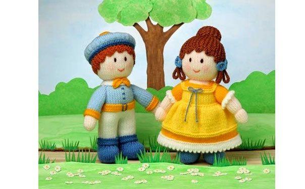 Вязаные куклы. Анабель и Эдвард
