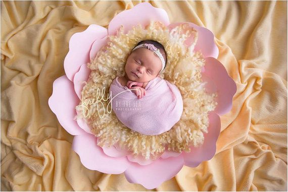 Giant Paper Flower Newborn Photography Prop by LuxyFlowers on Etsy