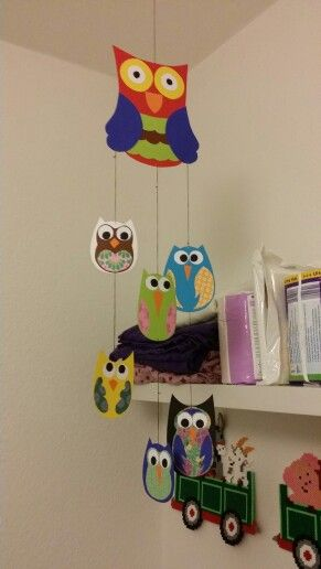 #homemade #owl #mobile  #creative #creation #hobby #animal #forrest #love #baby #babyroom