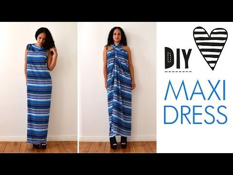 ♥ DIY no sew MAXI DRESS in 5 minutes by DIY ♥ MODE | Project | Sewing / Dresses | Women's | Vests | Kollabora