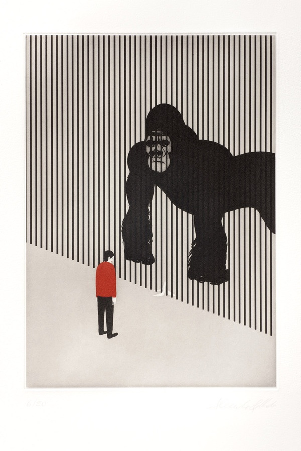 DAZED - etching and aquatint prints by alessandro gottardo, via Behance