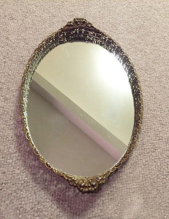 Vintage Gold Filligree Vanity Mirror Retro by RetroUrbanWares - 85 Best Mirror Trays Images On Pinterest Mirrors, Furniture