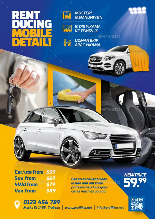 Car Wash Flyer Bundle Templates Wash Car Flyer Templates