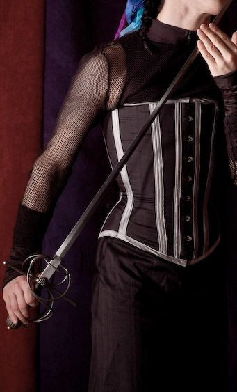 Men's silk midbust corset made by LT Corsets (Laurie Tavan) | Corsets for Men on Lucy's Corsetry