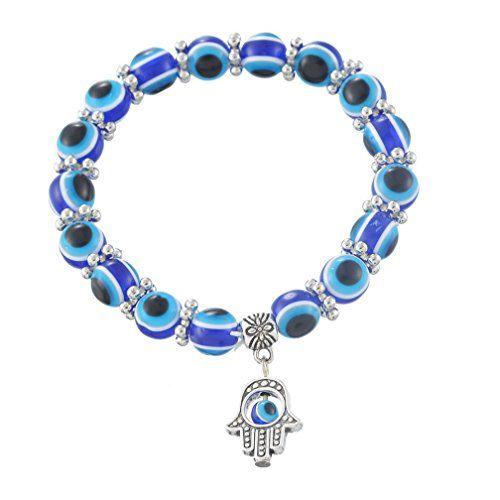 MJartoria Hamsa Hand Dangle Evil Eye Ball Beads Elastic Stretch Wrap Charm Bracelet Blue MJartoria http://www.amazon.com/dp/B00XLGM60W/ref=cm_sw_r_pi_dp_Jgvvvb18966NN