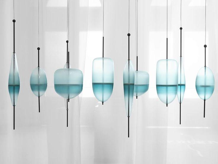 suspension en verre de murano flow t by gallery s bensimon design nao tamura lampes. Black Bedroom Furniture Sets. Home Design Ideas