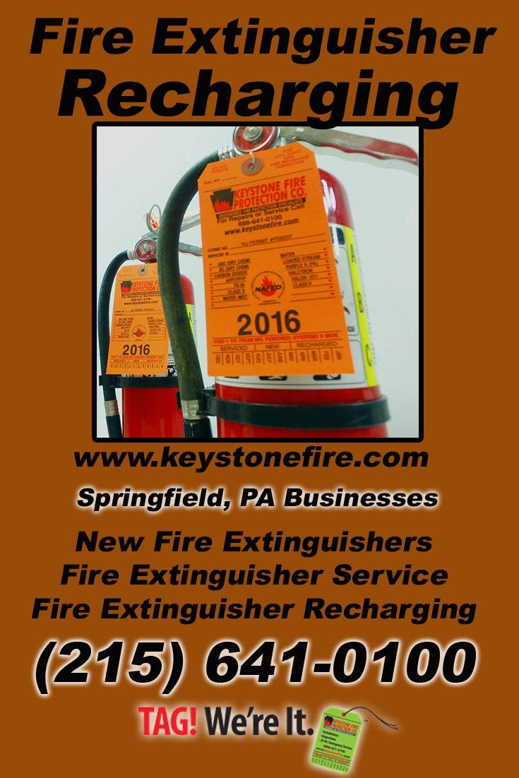 Fire extinguisher recharging springfield pa 215 641