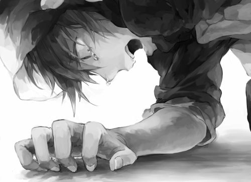 anime, kano, and monochrome-bild