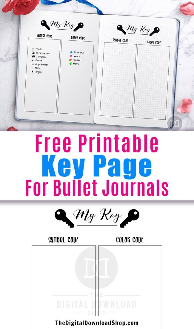 image about Bullet Journal Symbols Printable named No cost Printable Bullet Magazine Top secret Web page All Components Planners