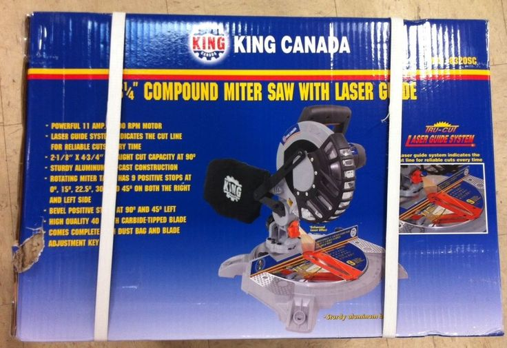 King Canada Tools 8320SC 8-1/4  DUAL COMPOUND MITER SAW WITH LASER Scie à Onglet