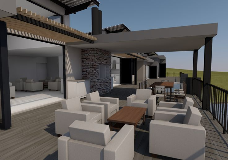 Main outdoor entertainment space