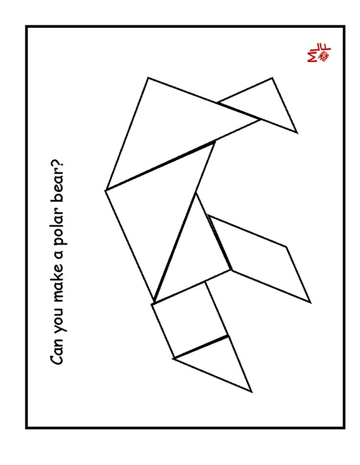 It is a photo of Impeccable Printable Tangram Patterns