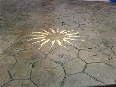 Солнце, золото штампованный бетон CamoCrete Экстон, PA