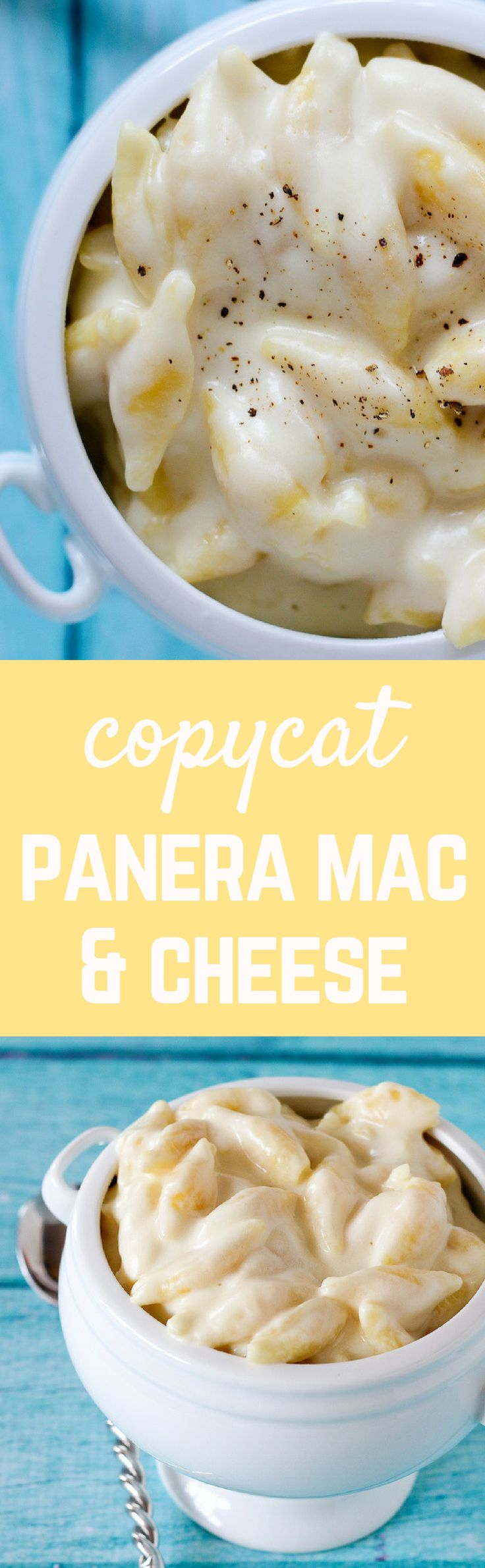 Copycat Panera Mac and Cheese -- made in one pan only! On RachelCooks.com