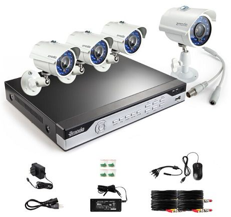 Zmodo KHI8-YARUZ4ZN 8 Channel H.264, 960H DVR Security System with 4 x 700TVL Night Vision w/IR Cut Outdoor Cameras (No HDD) - Newegg.com