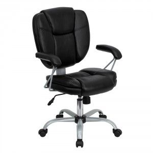 flash furniture midback black leather task and computer chair cheap computer chairscheap office