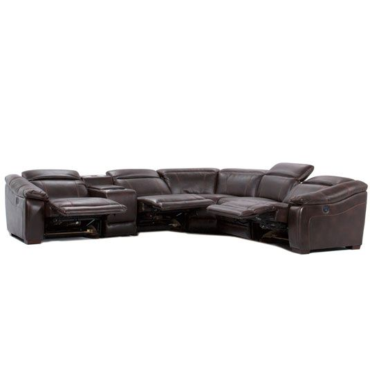 Ultimate 6PC Sectional: RAF Recliner, LAF Recliner, 2 Chairs, Console w/ Cupholders, Wedge by Jerome's Furniture, SKU KIA55MTSA