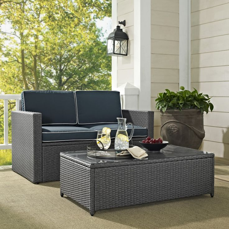 Wicker · Palm Harbor 2PC Outdoor Grey ... - 220 Best Images About Discounted Wicker Patio Furniture From Home