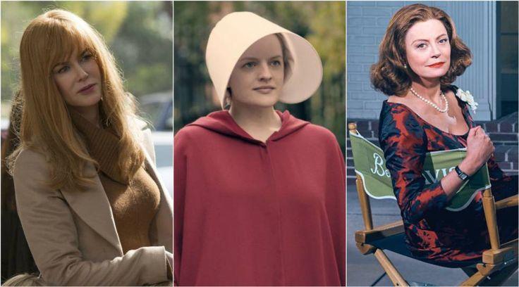 Nicole Kidman en 'Big Little Lies', Elizabeth Moss en 'The Handmaid's Tale' y Susan Sarandon en 'Feud'.