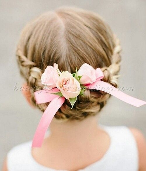 Flower girl hair idea, without the bow