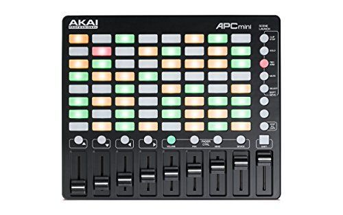 Akai Professional APC Mini  Compact Ableton Live controller with Ableton Live Lite Download 8x8 Backlit ClipLaunch Grid *** You can get more details by clicking on the image.