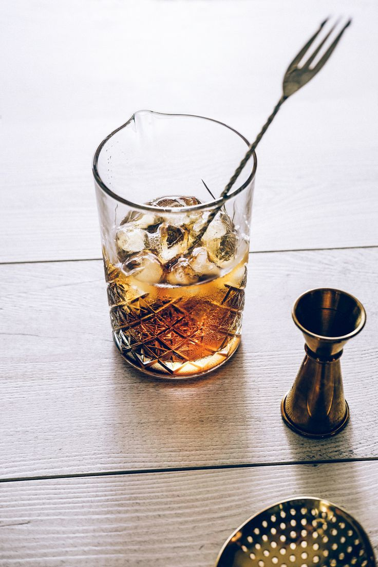 Drinks, Cocktails, Beverages, Bar, Home Bar, Whiskey, Bourbon, Sweet Vermouth, Cocktail Bar, Ingredients, Strainer, Bitters, Lemons, Cherries, Woodford Reserve, Martini, Dewars, Glass, Ice Cubes, The Manhattan, Gold, Bar Tools
