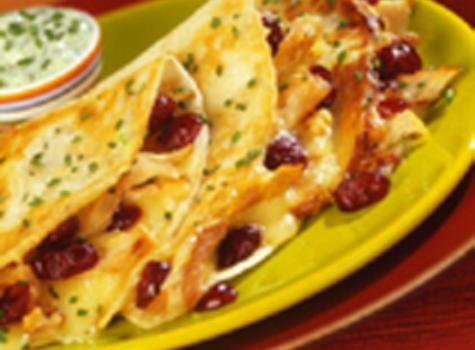 Turkey, Cranberry & Brie Quesadillas | Cranberries | Pinterest