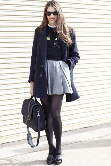 Casual yet classy. Can't go wrong with black on black.