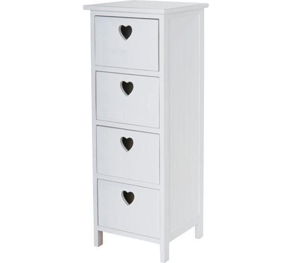Buy HOME 4 Drawer Storage Unit - White at Argos.co.uk, visit Argos.co.uk to shop online for Storage units, Storage, Home and garden