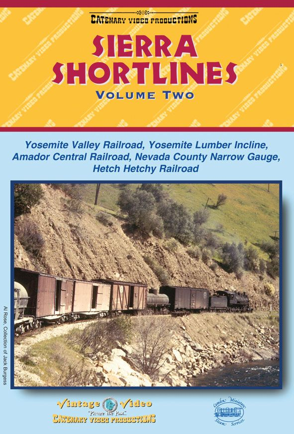 Superb archive film of long gone American railroads in California. See: http://www.camdenmin.co.uk/products/sierra-shortlines-vol-2-dvd-62-mins-colour-and-b-w-dubbed-sound