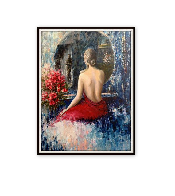 Check out this item in my Etsy shop https://www.etsy.com/listing/271287653/large-oil-painting-the-mirror-figurative