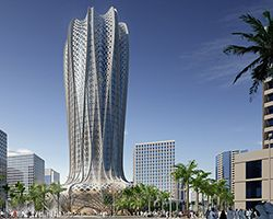 zaha hadid architects plans hotel + residence in qatar's sustainable lusail city