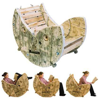 Sedia A Dondolo Ecologica In Legno Riciclato #wood #noitools