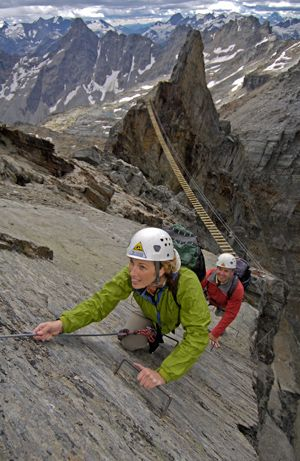 I love Via Ferrata! That bridge is so Indiana Jones! Canadian mountain holidays we will be visiting you soon...