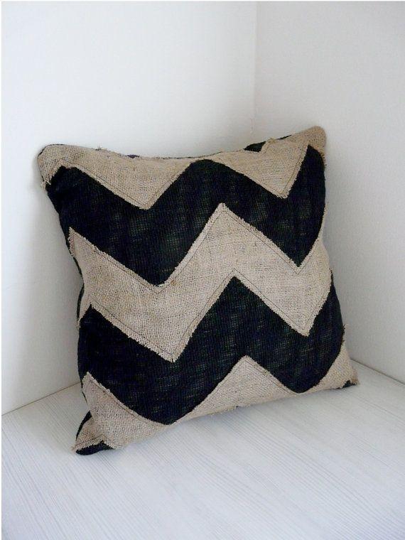 Burlap chevron pillow & 68 best Burlap Pillows images on Pinterest   Burlap pillows ... pillowsntoast.com