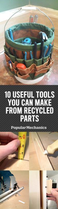 Don't just toss out broken saw blades, busted mirrors, and scrap wood. The trash lying around your house and your shop has uses you may never have imagined.