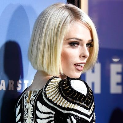 Coco Rocha Ditches Dark Brown Hair for Platinum Blonde Bob