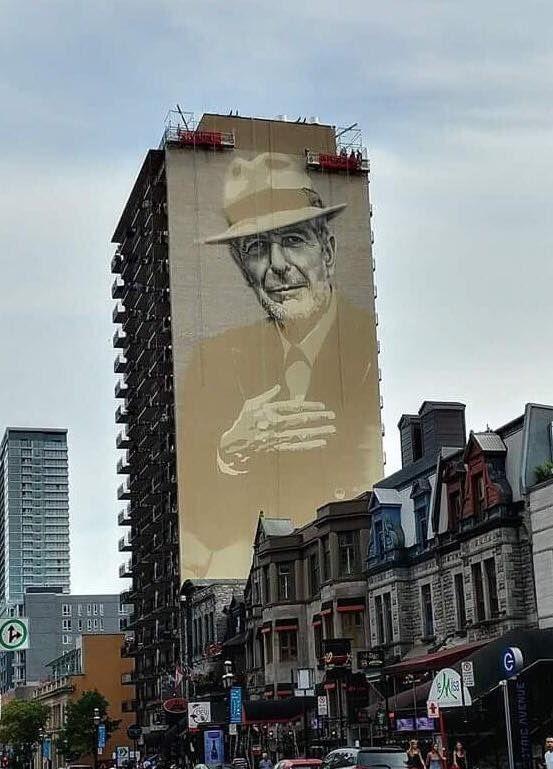 Murale Leonard Cohen - Montréal