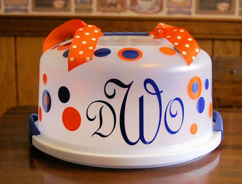 What a fun  welcome to your new home gift  personalized cake carrier (complete & 109 best Vinyl cake carrier images on Pinterest | Vinyl projects ...