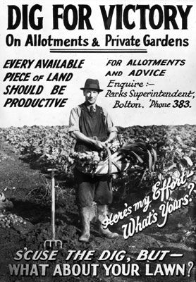 Bolton Cinema glass slide promoting Dig For Victory..BRITISH WW II.....16