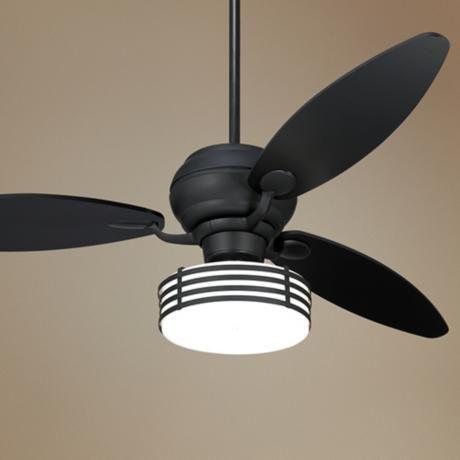 Lamps Plus Black Ceiling Fan